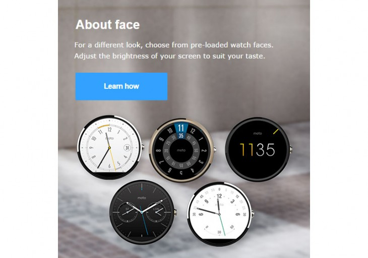 Motorola Moto 360 in gold shows up in a photo