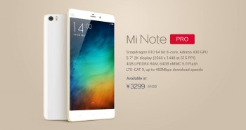 Xiaomi Mi Note Pro is unveiled
